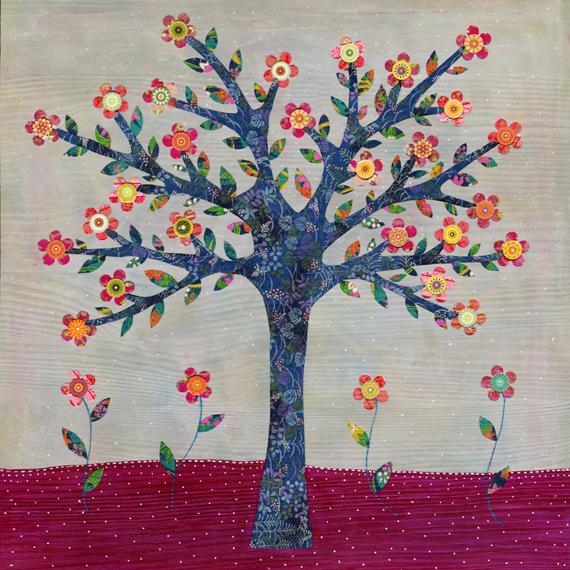 Art Pint - Whimsical Flower Tree