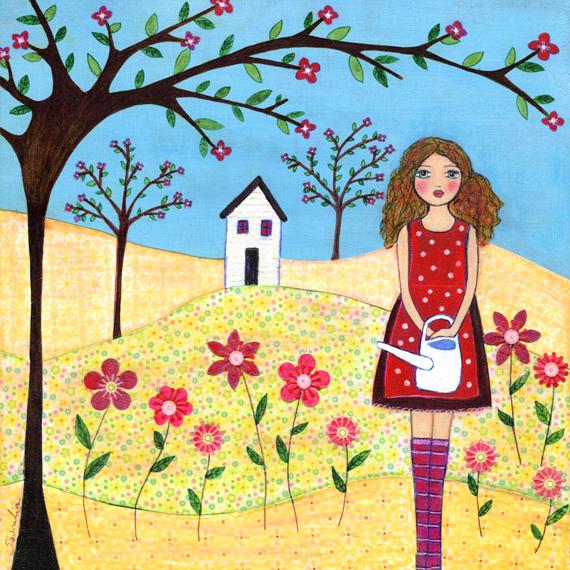 Art Print   Flower Garden